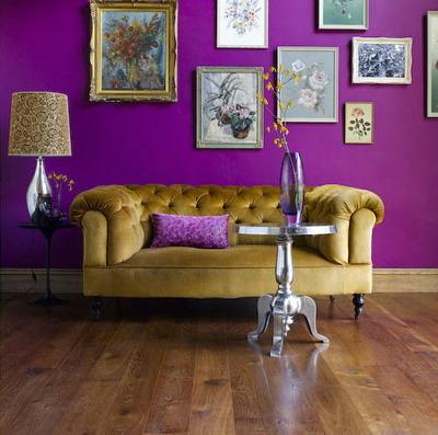color y bienestar. decorar en color violeta