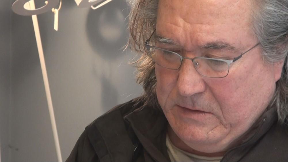 Nacho Moscardó en su estudio de Valencia