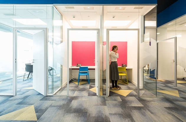 oficinas British telecom en Madrid. Proyecto workplace 3g office