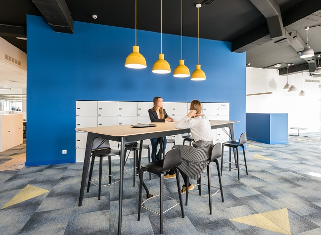 oficinas British telecom en Madrid. Proyecto workplace 3g office 7. moqueta milliken carpet. Concepto agile working