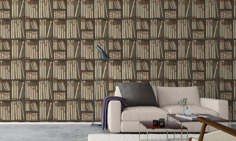 Pattern wallpaper (bookshelves)