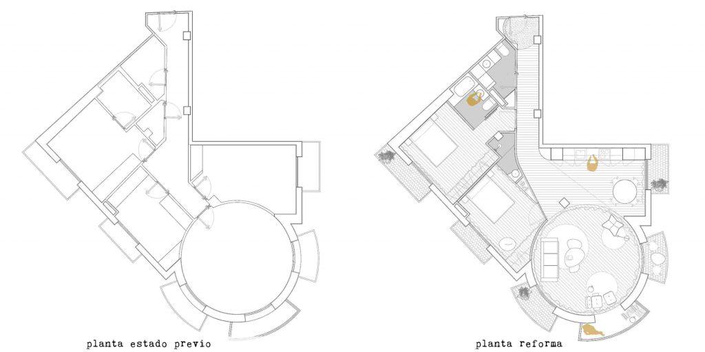 planta distribucion reforma garmendia cordero arquitectos