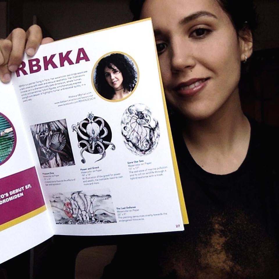 rebecca ajuelos. artista residente sianoja 2018
