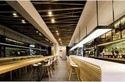 "Restaurante ""BRIDGE"" de KúDesign en Murcia."