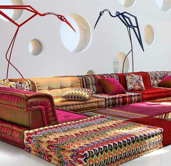 roche Bobois Mah Jong sofa