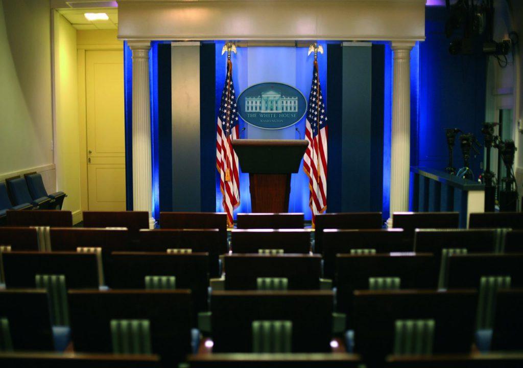 sala de prensa de la casa blanca . silleria Figueras
