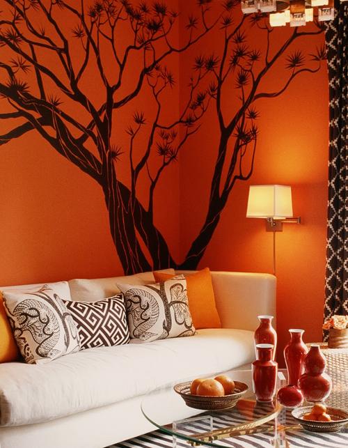 sala-estar-naranja Color y bienestar. La influencia del color naranja. Significado del color naranja