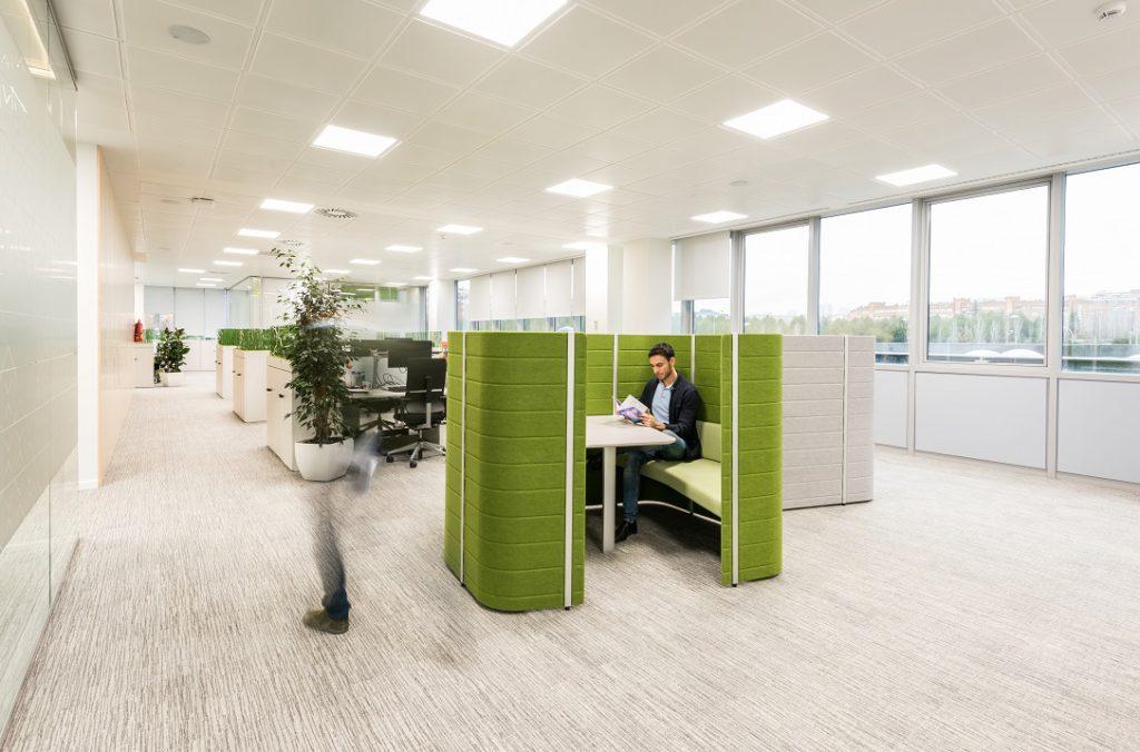 sede Roche Madrid diseño 3g office (24) Roche Farma Spain. workspace. Edificio sostenible