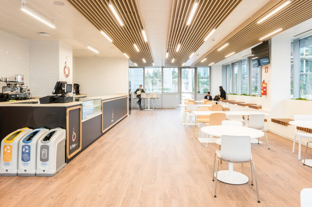 sede Roche Madrid diseño 3g office (29) Roche Farma Spain. workspace. Edificio sostenible