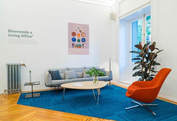 showroom Koff en Madrid. Herman Miller Spain. Concepto Living Office, sofas