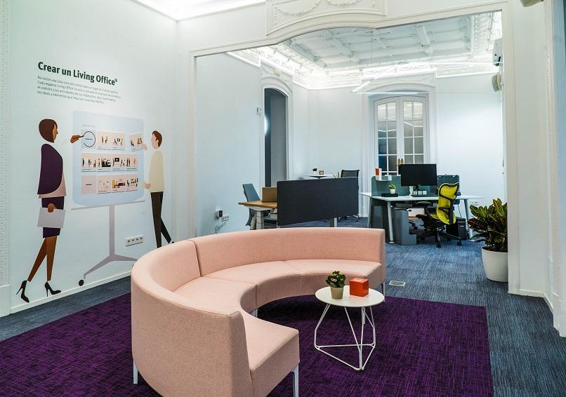 showroom Koff en Madrid. Herman Miller Spain. Concepto Living Office