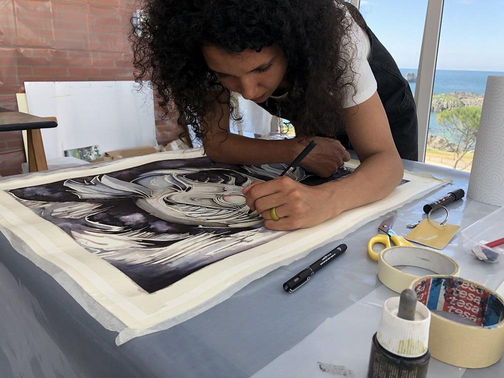 simposio internacional de artistas Sianoja 2018. Rebecca Ajuelos