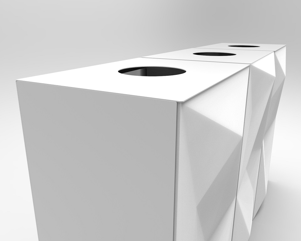 design for happiness. vevey papelera de reciclaje madedesign barcelona by baumgartner Paper Bin Design.