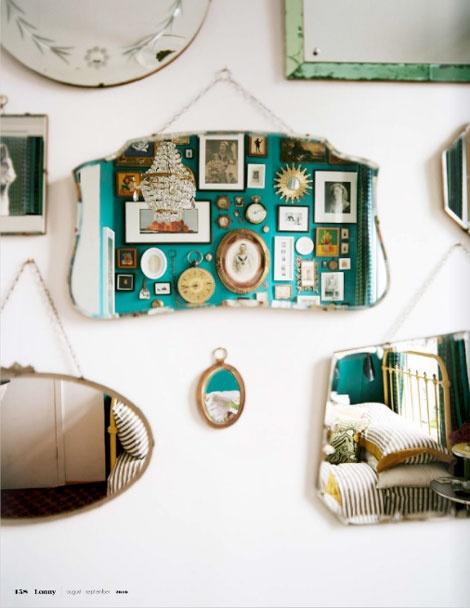 vintage-mirror rue vintage 74. Espejos vintage . Decoración con espejos