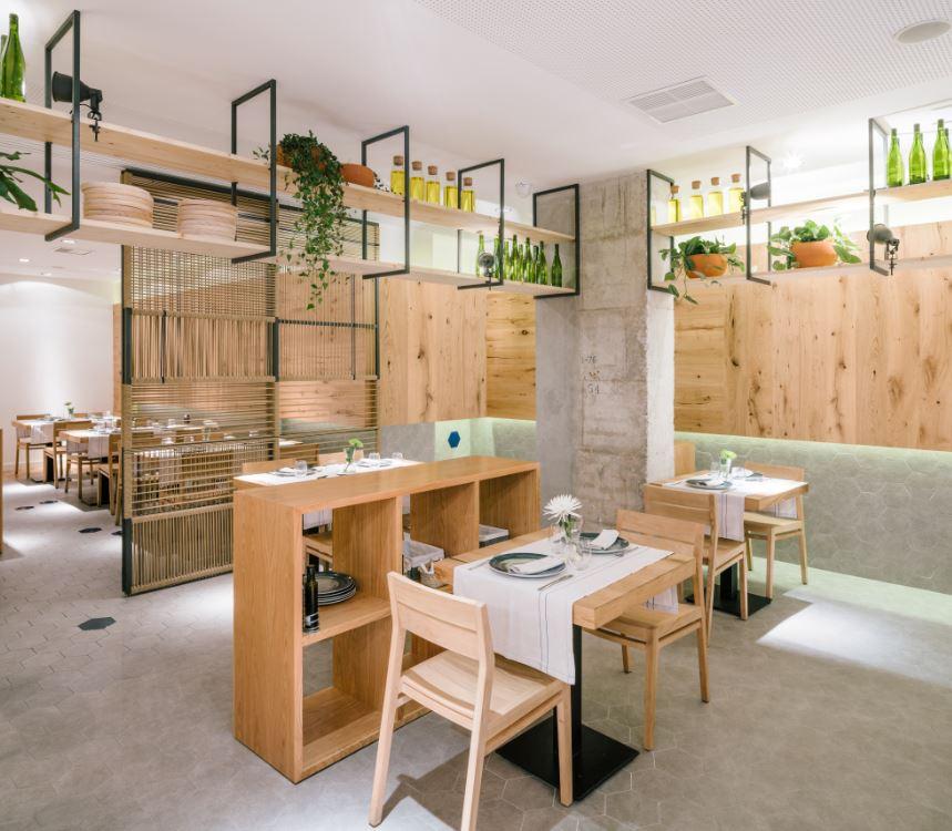 Enxebre por zooco estudio zooco restaurante atrapallada madrid. enxebre . pavimento hexagonal