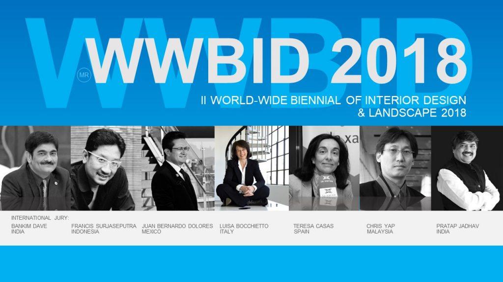 Jurado Bienal Iberoamericana Cidi de interiorismo, diseño y paisajismo WWBID 2018 interior design and landscape