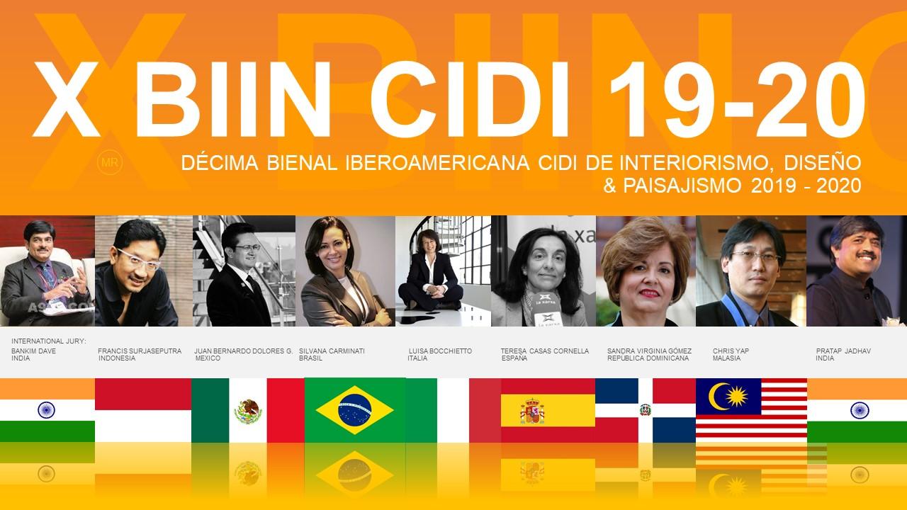Jurado Internacional X Bienal Cidi Interiorismo diseño y paisajismo