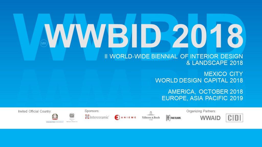 BANNER BIENAL CON TODOS LOS LOGOS.JPG .Bienal Iberoamericana Cidi de interiorismo, diseño y paisajismo WWBID 2018 interior design and landscape