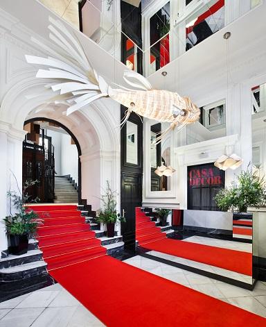 ESPACIOS CASA DECOR 2019 . Exposición interiorismo y Decoración en Madrid. Entrada de Antro Design . Pez de LZF lamps