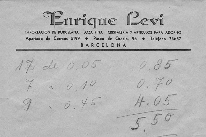 Papelería de la época  Vincon Barcelona,  una tienda con historia