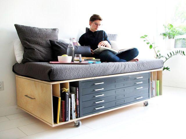 muebles multifuncionales. Aprovechar espacio