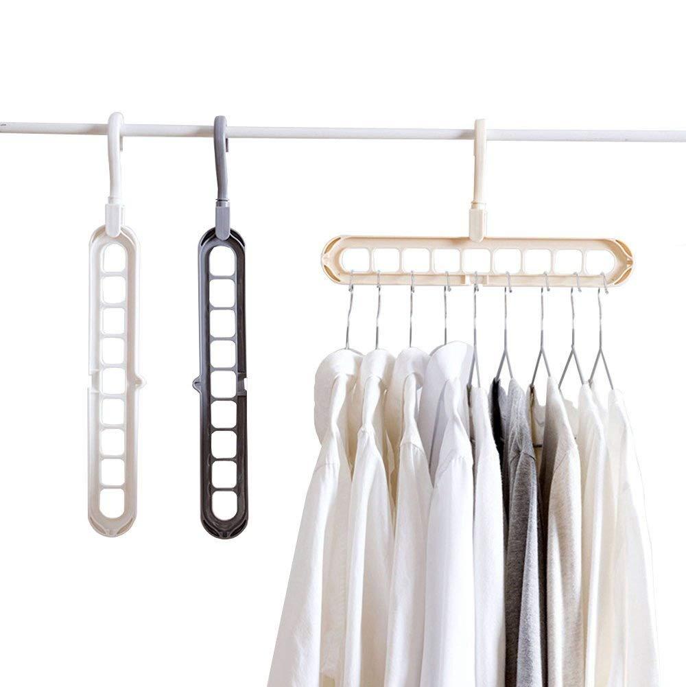 Perchas de armario para ahorro de espacio de almacenamiento, mágico organizador de ropa