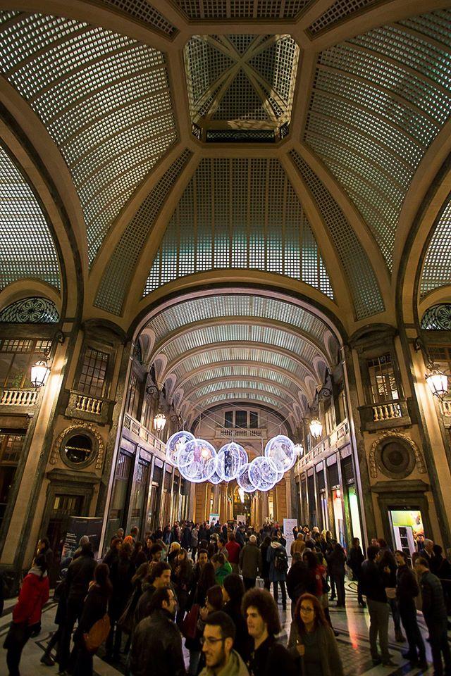 Galleria San Federico Torino. Instalación Sar to