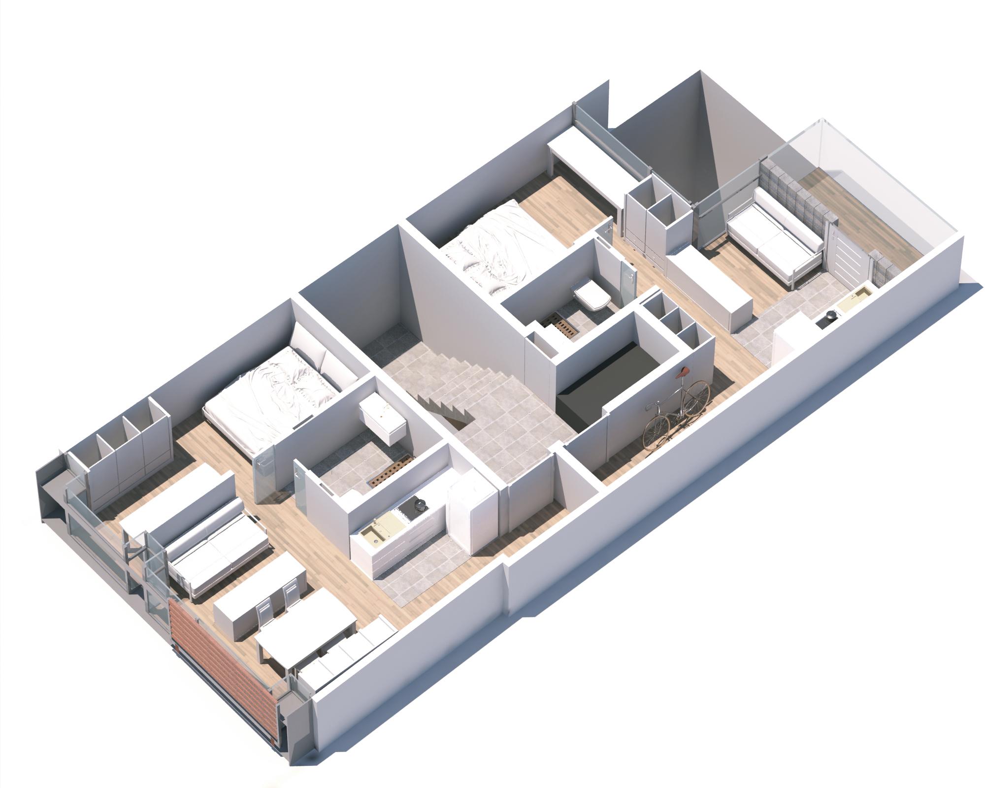 crowdfunding pisos Madrid. Collarte Arquitectos planta-tipo
