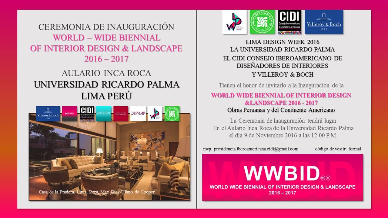 Lima design week 2016. EXPOSICION cIDI lIMA rICARDO pALMA