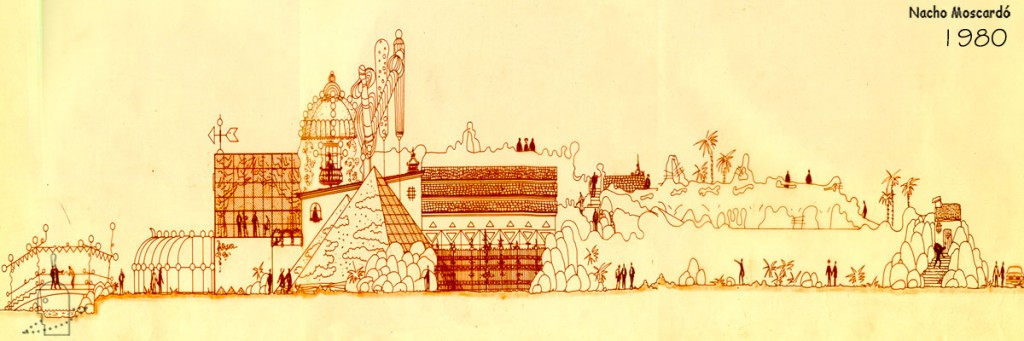 1980-2 Discoteca Chocolate Valencia. Diseño Nacho Moscardó Años 80. Movida Valenciana Ruta del bakalao