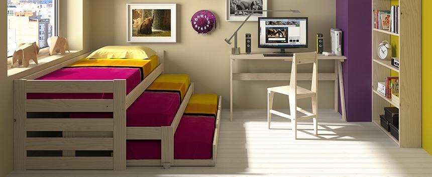 muebles lufe el ikea vasco . Cama nido de tres camas en madera
