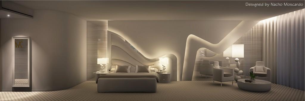 2013 habitacion hotel La Mecca diseño Nacho Moscardó