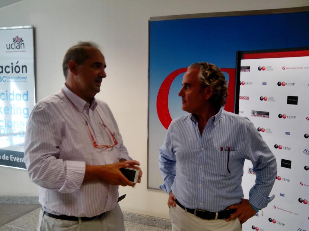 Fernando Subirats, organizador del MEETUPIN y Ramon Prous. Altave Eco-Store