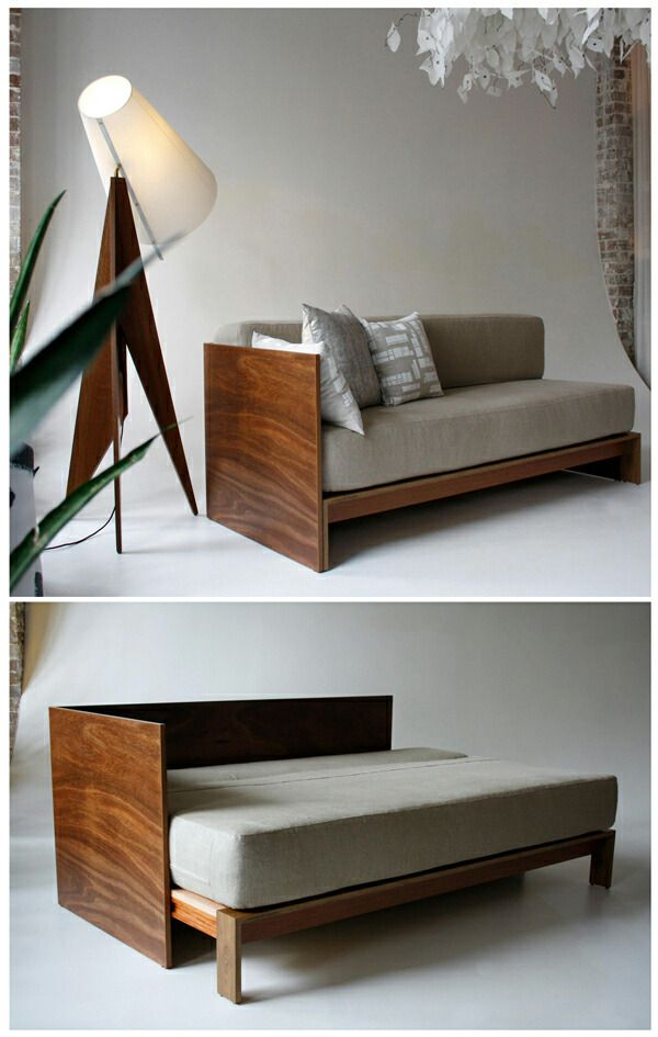 Sofá cama. muebles multifuncionales. Aprovechar espacio