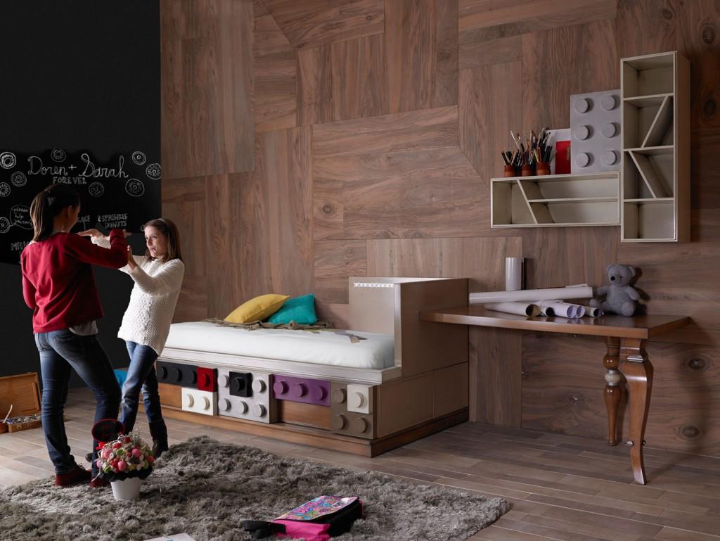 2ambar-muebles.com-cama-juvenil-legos-de-lola-glamour-junto-escritorio Dormitorios juveniles con estilo