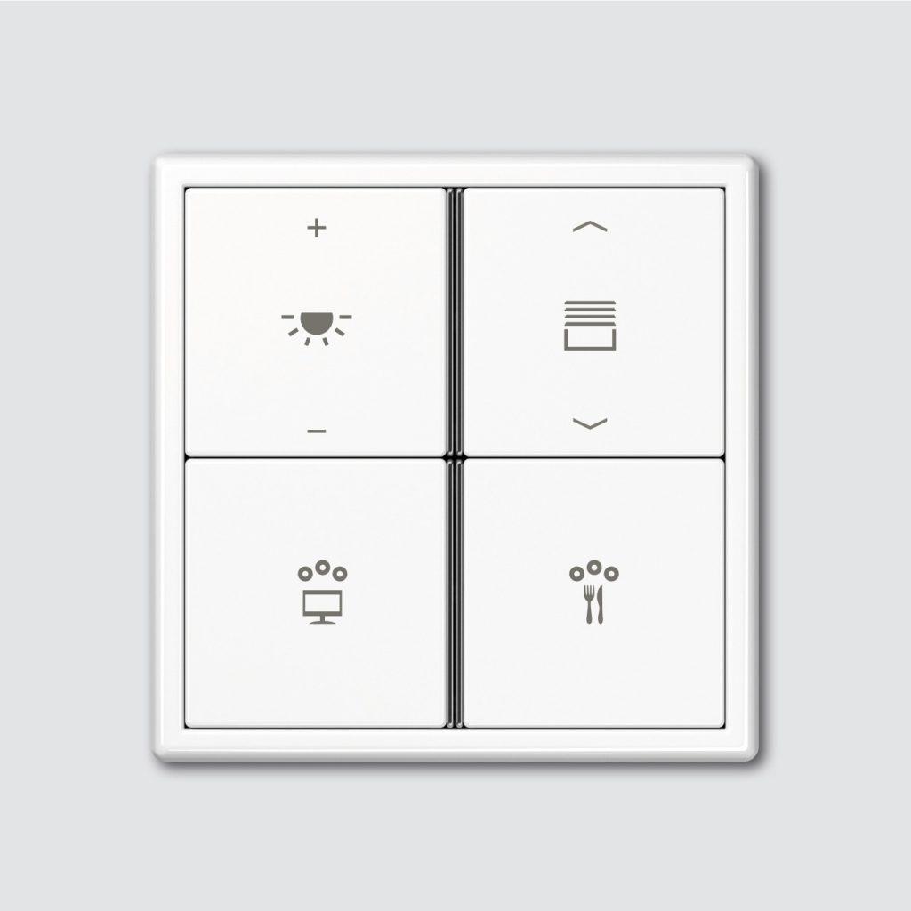3 Teclado F40 Multifunción (SD Solución Domótica - Jung) Sistema SD Jung domotica intuitiva plug & play facil instalacion