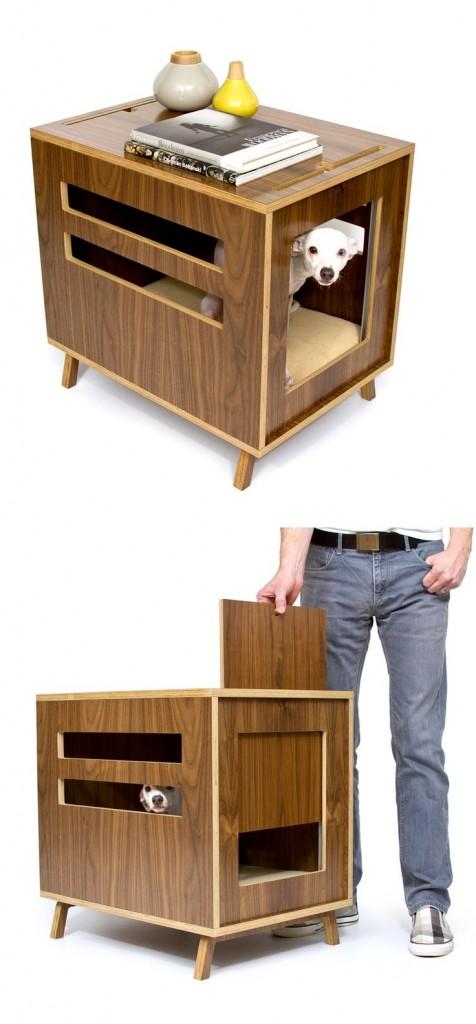 casa de mascotas . Casa con mascotas de madera ModesnistCat. Diseño de Crystal Gregory