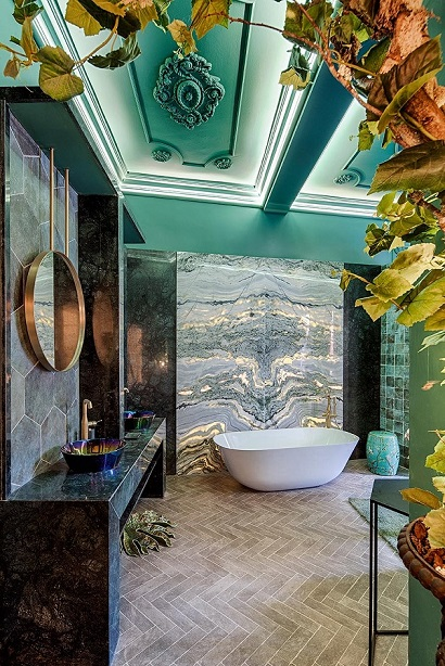 salon-con-bano-mandalay-interiorismo-casa-decor-2019 Salón con baño. Fran Cassinello. Boudoir