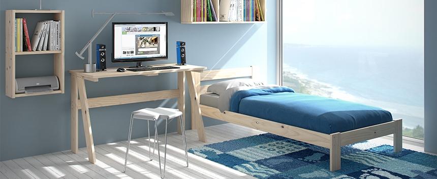 escritorio dormitorio juvenil madera maciza muebles lufe el ikea vasco