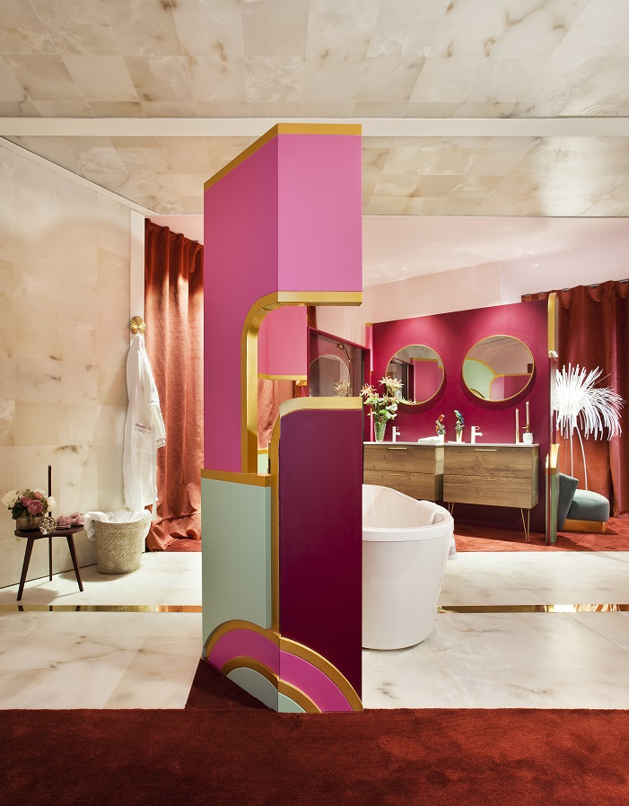 Cuarto de baño.Espacio JACOB DELAFON,porViteri/Lapeña. Espacios Casa Decor 2019