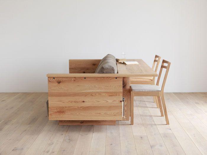 sofa multifuncional. muebles multifuncionales. Aprovechar espacio