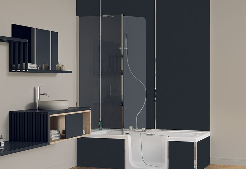 BAÑERA O DUCHA . Solución bañera -ducha de grandform