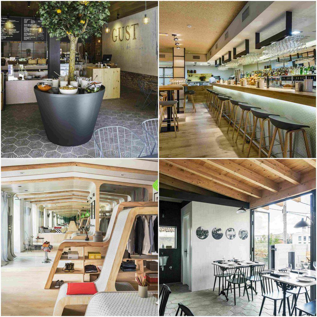 Enxebre por zooco estudio pavimento hexagonal restaurantes