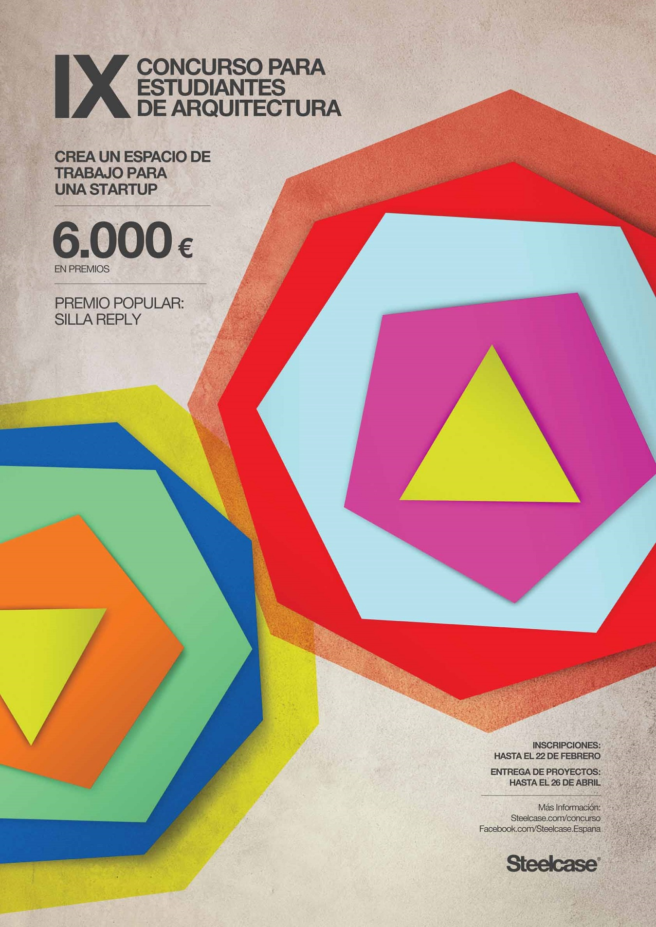 Concursos de diseño. Concurso para estudiantes de arquitectura Steelcase