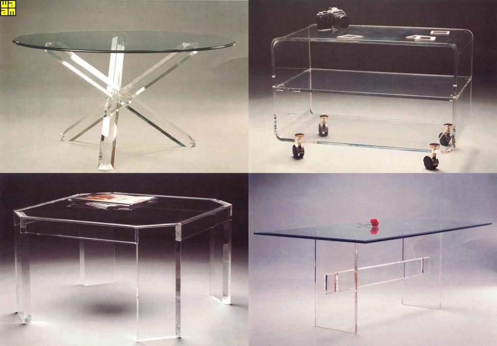 Muebles metacrilato con estantes de cristal Catálogo propio _ Waam S.L.