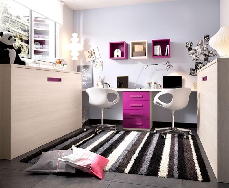 Dormitorio-Liyur cama abatible para cuartos juveniles. Menamobel