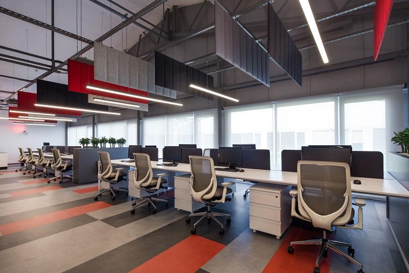 ECOdesk baffle SLALOM paneles acústicos para oficinas colaborativas