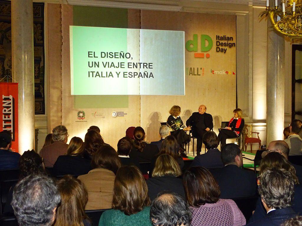 Presentación Concurso de diseño Revista interni y Coam Madrid . Foto: Embajada Italiana en Madrid.