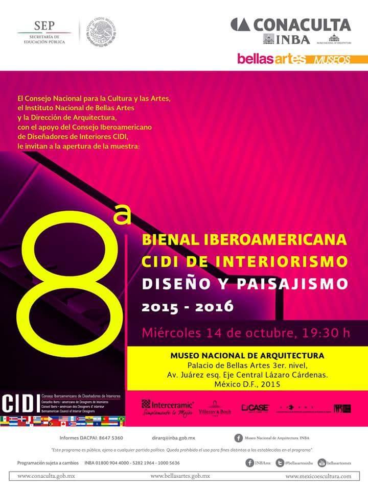 premios cidi bienal interiorismo, diseño y paisajismo.