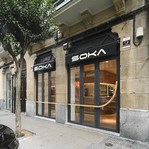 Bar Soka Bilbao diseño de Garmendia Cordero Arquitectos.
